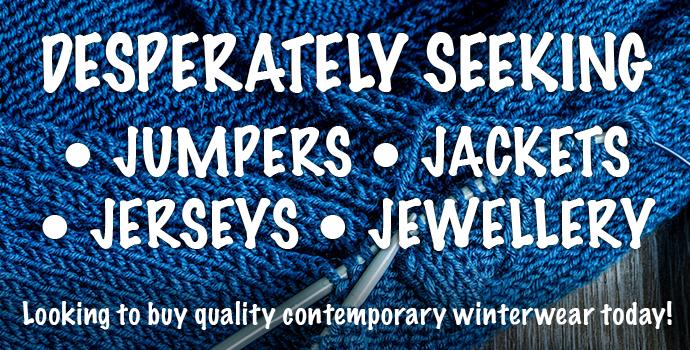 Desperately Seeking to buy jumpers, jackets, jerseys and jewellery